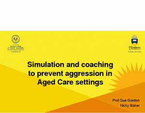 Baker, NickySimulation and coaching to prevent aggression in aged care settings