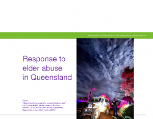 Finsterle, KarinResponse to  elder abuse in Queensland