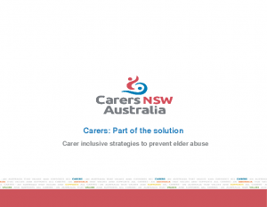Hinton, Tom / Rogers, FelicityCarers: part of the solution
