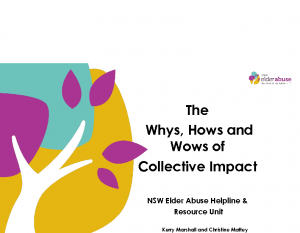 Marshall, Kerry / Mattey, ChristineThe whys, hows and wows of collective impact