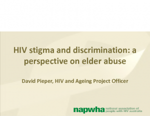 Pieper, DavidHIV stigma and discrimination: a perspective on elder abuse